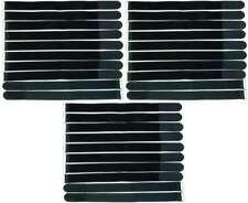 30 x Klettband Kabelbinder 80 cm x 50 mm schwarz Klettbänder Kabelklett mit Öse