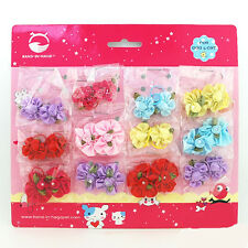 24pcs Pet Dog Hair Bows Rubber Band Cute Petal Flower Pet Dog Grooming Topknot