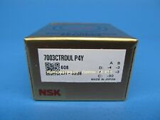 NSK 7003CTRDULP4Y  Abec-7 Super Precision Spindle Bearings. (Set of Two)