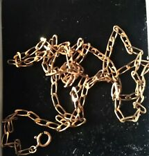 LOVELY VINTAGE 9CT GOLD  LINK CHAIN NECKLACE HALLMARKED 4.9 GRAMS 24 INCHES