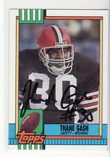 THANE GASH CLEVELAND BROWNS E TENNESSEE STATE UNIVERSITY AUTOGRAPHED CARD