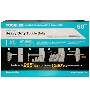 BM6 Toggler Heavy Duty Wall Mounts Snaptoggle Cavity Anchor Plasterboard Drywall