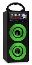 ALTOPARLANTE BOX MONITORE PORTATILE SISTEMA STEREO USB MP3 FM RADIO SD AUX VERDE