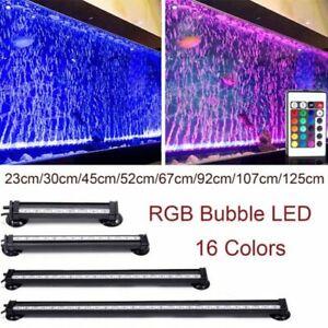 19-112cm Air Bubble Aqua Fish Tank Plant Light 5050SMD RGB LED Lighting Bar Lamp