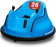 Kids ASTM-Certified Electric 6V Ride Bumper Car W/ Remote Control 360 Spin~Blue