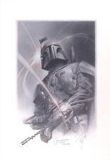 Tsuneo Sanda Original Boba Fett Art Signed Jeremy Bulloch Star Wars Celebration
