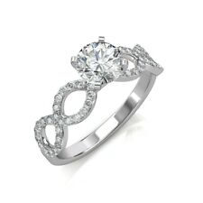 Ct 14K White Gold Size 6 Diamond Wedding Engagement Round Solitaire Ring 1.00