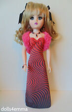 "CISSY DOLL CLOTHES Pink Stole + Gown + Jewelry 21"" handmade Fashion NO DOLL d4e"