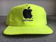 Apple Computer Snapback Hat 80s Vtg Computer Macintosh Logo Neon Technology USA