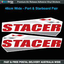 Stacer Replacement Sticker Set 46cm Wide Gloss Laminated Decals 2 Pack #S016