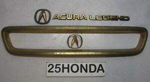 1991-1993 Acura Legend Factory Accessory Gold Grill + Emblem Set KA7 Rare