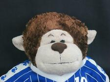 TALKING BUILD A BEAR BROWN MONKEY SPORTS PLAYER JERSEY BABW PLUSH STUFFED ANIMAL