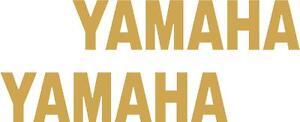 x2 80mm Yamaha Stickers (MOREin EBAY SHOP) Motorbike Decals Gold
