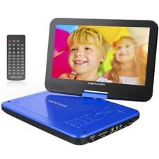"DBPOWER 10.5"" Portable DVD Player with Rechargeable Battery Swivel Screen (Blue)"