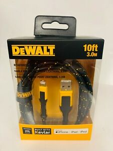 Dewalt DXMA1311326 USB Charging Cable For iPhone / Lightning / iPad 10' (10ft)