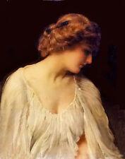 Dream-art Oil painting thomas benjamin kennington - contemplation young lady art