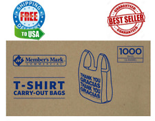 Members Mark T Shirt Carry Out Bags 1000 Ct Brand New Original