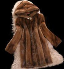 Real para Mujer Abrigo Chaqueta de piel de visón de invierno cálida Chaqueta Parka de piel de lujo al aire libre 6XL