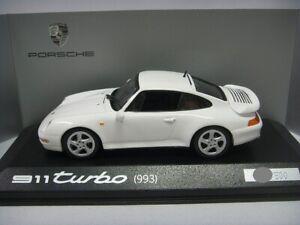 1:43 Minichamps Porsche 911 Turbo 993 1995 White Dealer Edition Limited 500 pcs