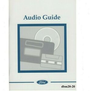 FORD AUDIO GUIDE HANDBOOK MANUAL 6000 MP3 6000 6006E CD