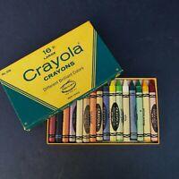 Vintage Crayola 16 Large Hex Crayons Box No. 336 Binney & Smith Very Good Cond.