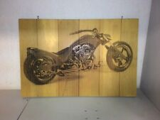 "decor wood panel ""motorcycle"" 540mm x 360mm x 15mm"