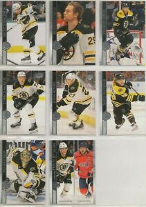 BOSTON BRUINS ~ 2020-21 Upper Deck Series 1 Team Set ~ 8 Hockey Cards ~ PASTRNAK
