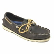 Men's Sperry Top-Sider Boat Shoes Sneakers Size 8M Brown Leather Moc Toe K15