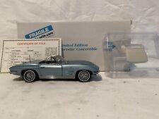 Danbury Mint Limited Edition 1963 Chevy Corvette Convertible 1/24
