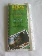 1998 Berks County, PA Street & Road Map & Vicinity Zip Code Edition