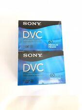 Sony DVC Premium Mini Digital Video Cassette 60 Minutes Camcorder, 4 Pack