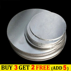 304 Stainless Steel Round Sheet Flat Disc Thick 0.5mm Dia 50/100/200/300mm DIY
