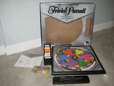 Silver Anniversary TRIVIAL PURSUIT Coffee Table Wood Board Night Game USED