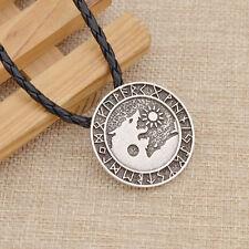 Gotisch Nordisch für Herren Schmuck Geschenk Neu Viking Wolf Anhänger Halskette