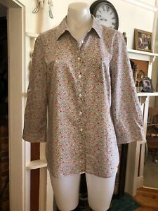 Womens Sportscraft Liberty print 3/4 sleeve shirt size 14