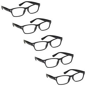 5 Packs Reading Glasses Mens Womens UV Reader RRRRR77