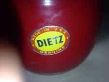 NOS Vintage Dietz Little Wizard Glass Red Globe Barn Kerosene LANTERN LIGHT LAMP