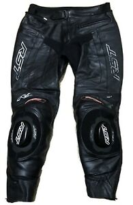 RST Tractech Evo Leather Motorbike Trousers Uk 34. VGC