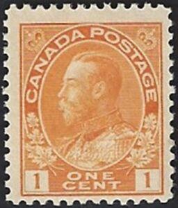 Canada  # 105  King George V Admiral Issue   Brand New 1922 Original Gum    #.04