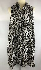 Adrianna Papell, women's animal Print Long Tunic Top Dress 6