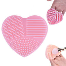 Makeup Brush Cleaner Heart Scrubber Cosmetic Cleaning Silicone Foundation