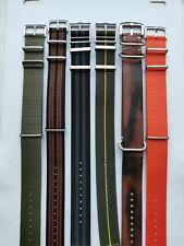 22mm 6 paquete de la OTAN Correas de Reloj Nylon-Despacho de subasta