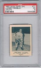 1952 Laval Dairy QHL Update Hockey Card Quebec Aces Ludger Tremblay Graded PSA 5