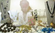 Vintage Jewelry Lot of 30+ Pieces, Rhinestones, Lockets, Lucite, Watch, Sterling
