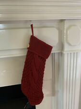 Pottery Barn CHUNKY KNIT RED STOCKING CHRISTMAS NO Monogram New In Packaging
