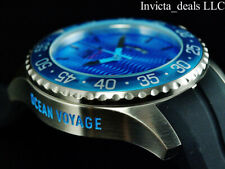 Invicta Men's 50mm OCEAN VOYAGE Limited Edition Blue Wave Dial Silver Tone Watch