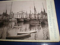 Old stereoview photograph Ilfracombe Harbour by Harding & Sons c1890s