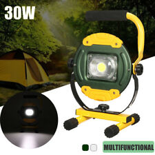 30W COB LED Rechargeable Flood Spot light Camping Portable Outdoor Flashing  !