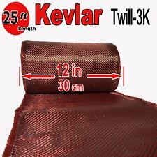 1 Ft x 25 FT - made with KEVLAR-CARBON FIBER ARAMID ~ Fabric - 3K/2K-200g/m2