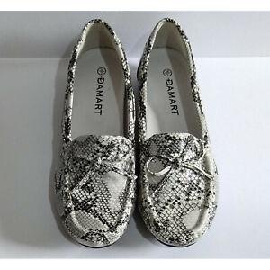 Damart Shoes - Women's Black & Grey Animal Pattern Flat Shoes Size 5 / 38
